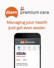 DIEM® premium care mobile app banner